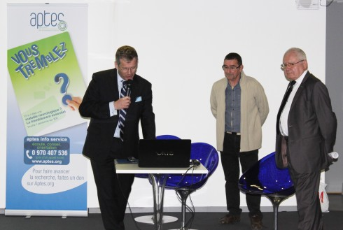 Fabrice Barcq, président de Aptes, Michel Socié, trésorier et Gilbert Tibolla, vice-président