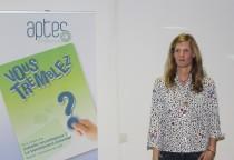 Lucie Maugest présente son projet à l'assemblée générale