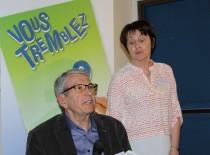 René Deneuvillers présente sa candidature au conseil d'administration avec Roselyne Radigue, secrétaire de Aptes